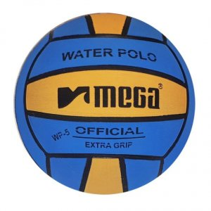 Mega Water Polo Ball Blue - Yellow size 5