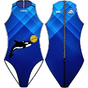 Old Royton & Crompton Amateur Swimming & Water Polo Club Orca - Water Polo Costume, Zip, Diapolo