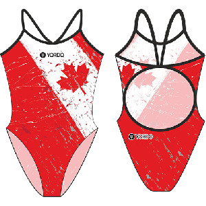 Canada 1 - Single Strap Swimming Costume
