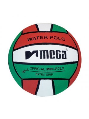 Mega, Water Polo, waterpolo, Ball, Blue - Yellow, size 3, official size, junior size, for junior, stripped, coloured