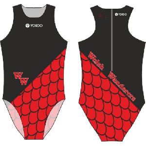 Welsh Wanderers Water Polo Club - Water Polo Costume, Zip