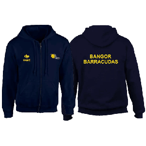 Bangor Barracudas - Hoodie zip Dark Blue