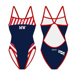 Crystal Palace London Water Polo Club - Water Polo Costume, Zip, Diapolo