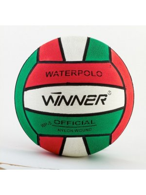 Winner Water Polo Ball Red-White-Green size 5