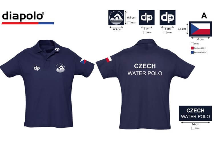 d778e8322 Czech National Team - Blue Polo shirt