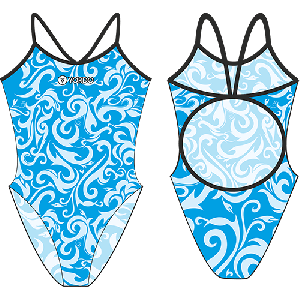 Nonfig blue - Single Strap Swimming Costume