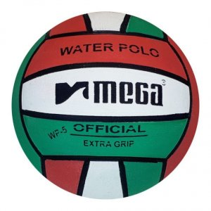 Mega Water Polo Ball Red-White-Green size 5